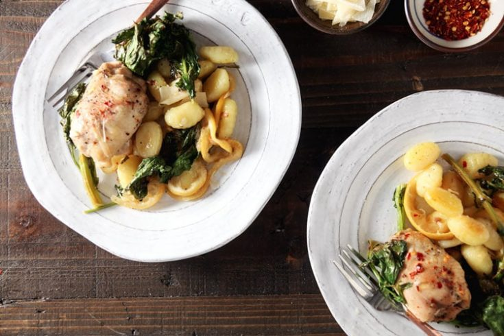 Sheet Pan Chicken and Gnocchi with Broccoli Rabe 1