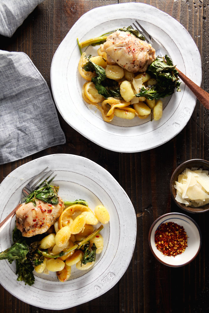 Easy Sheet Pan Chicken and Gnocchi with Broccoli Rabe Recipe