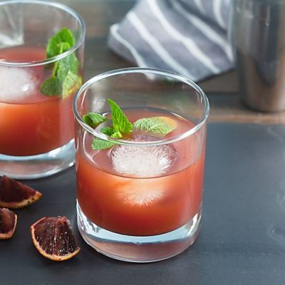Blood Orange, Tea + Whiskey Cocktails