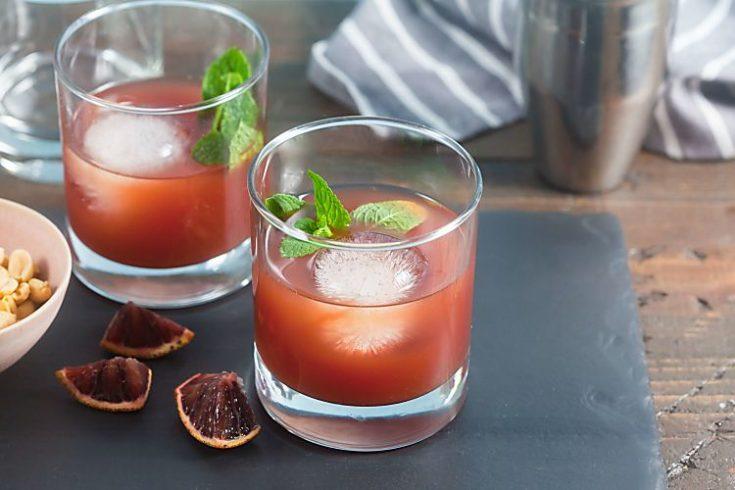 Blood Orange, Tea + Whiskey Cocktails 1