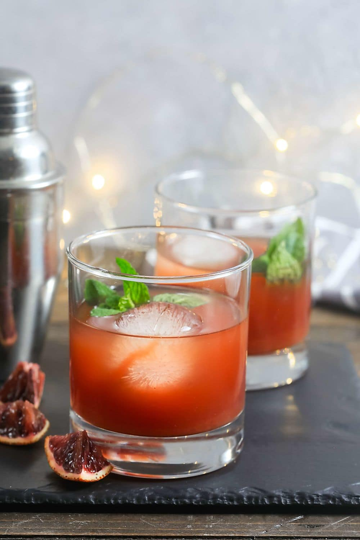 Blood Orange Tea Whiskey Cocktails