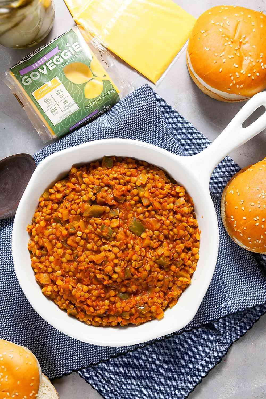 BBQ Lentil Sloppy Joes Recipe - Vegan