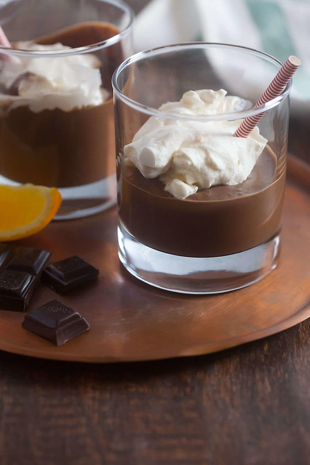 Spiced Hot Chocolate with Orange Vanilla Whipped Cream (Dairy Free)