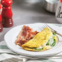 3-Minute Spinach Artichoke Omelet