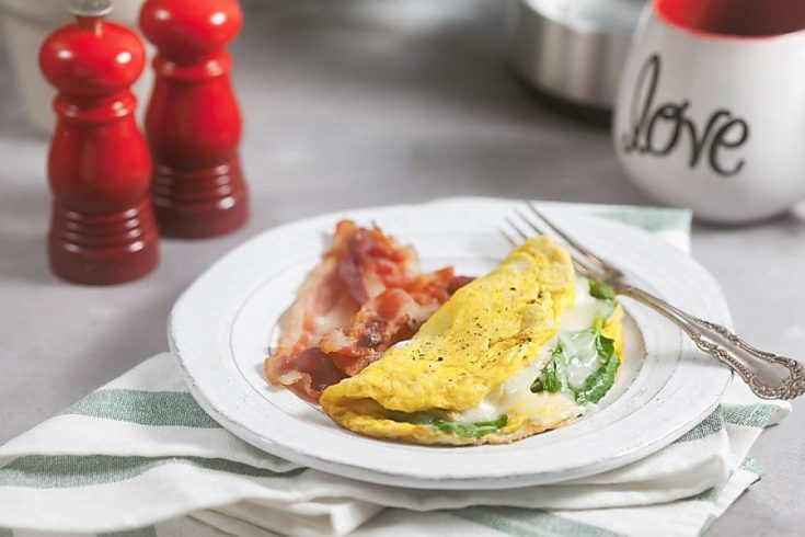 3-Minute Spinach Artichoke Omelet 1