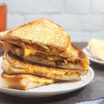 Fancy Grilled Cheese with Caramelized Onion, Apples, and Bacon (Lactose Free)