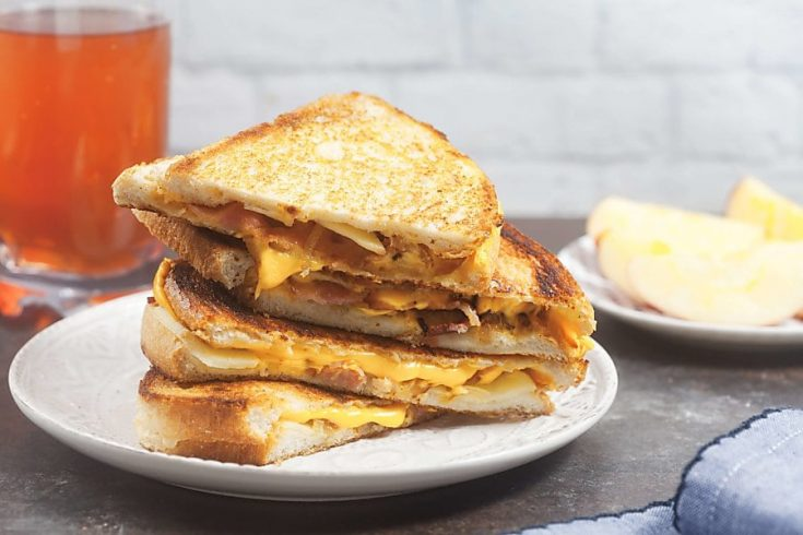 Fancy Grilled Cheese with Caramelized Onion, Apples, and Bacon (Lactose Free) 1