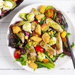 Grilled Chicken and Sweet Corn Salad with Pesto Vinaigrette
