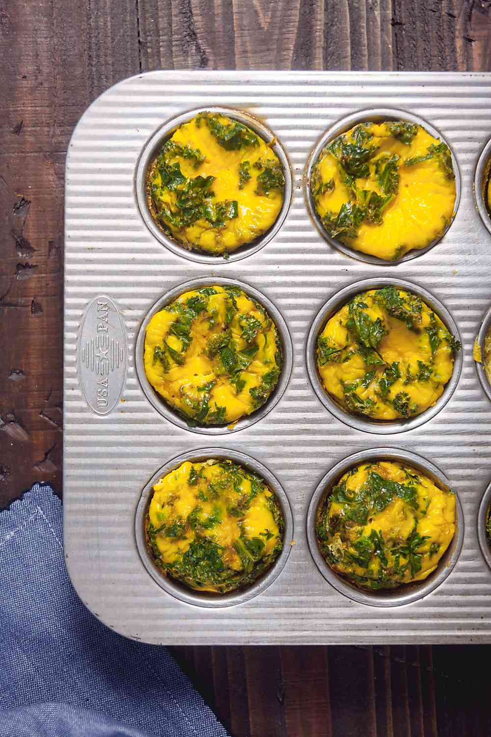 Ham and Kale Egg Cups Image