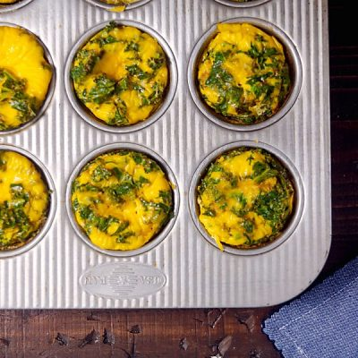 Ham and Kale Egg Cups