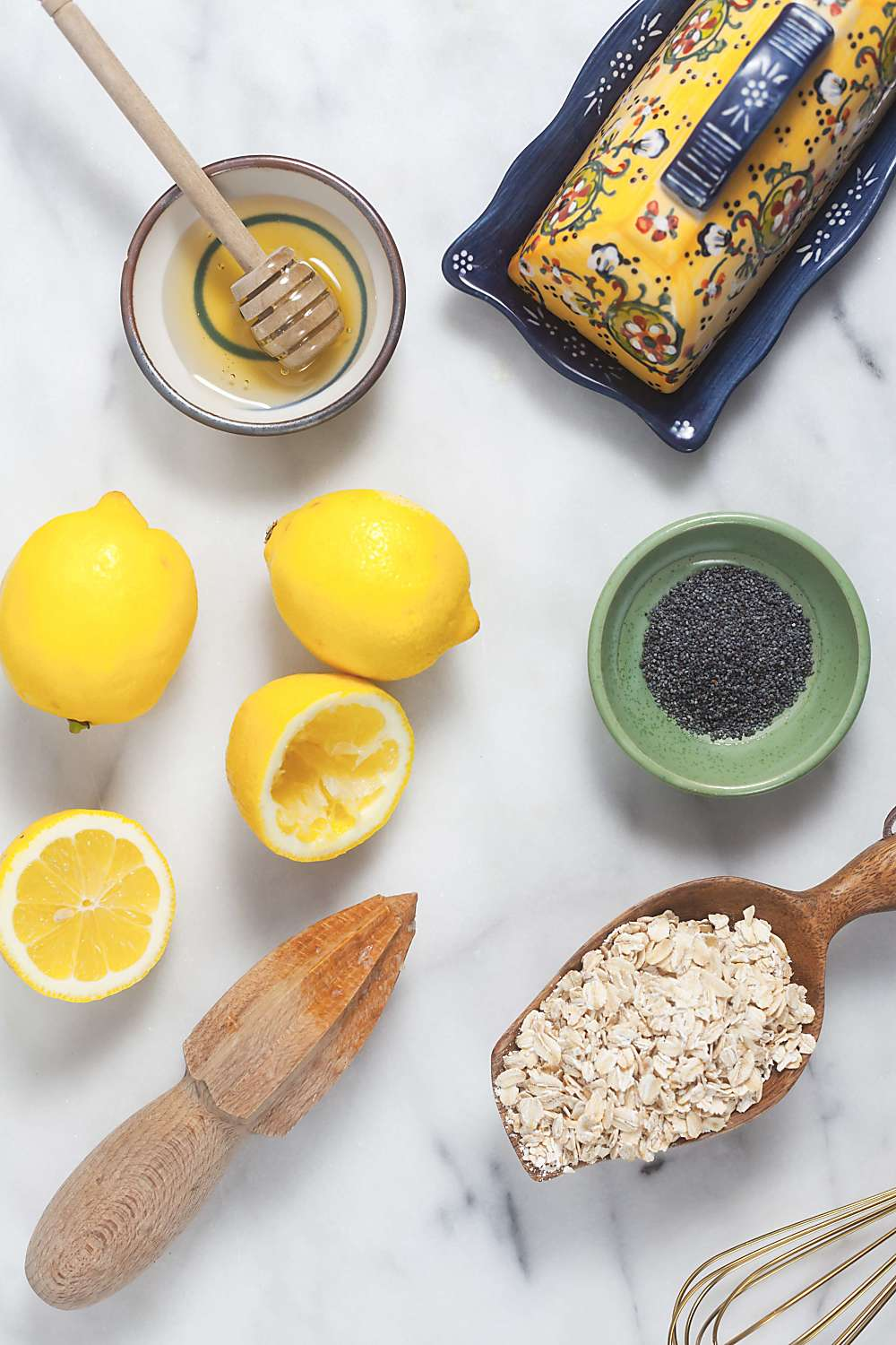 Lemon Poppyseed Oatmeal Pancakes Ingredients