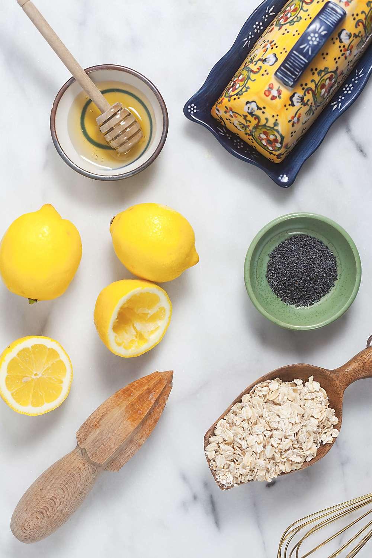 Lemon Poppyseed Oatmeal Pancakes Ingredients