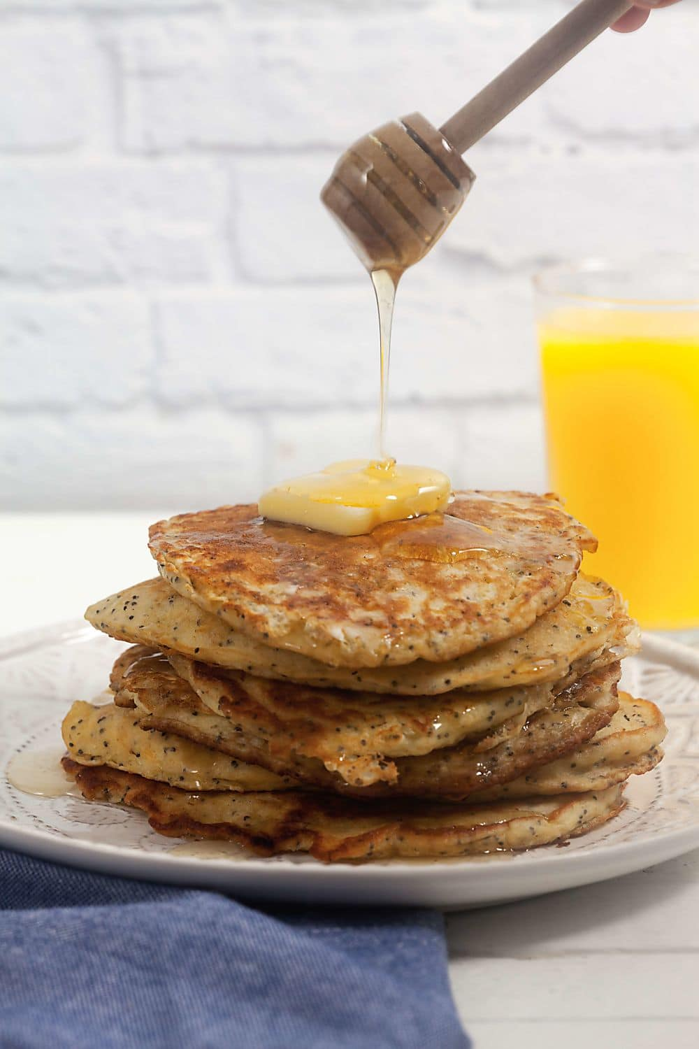 Lemon Poppyseed Oatmeal Pancakes with Oney
