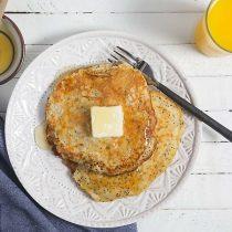 Lemon Poppyseed Pancakes with Oat Flour