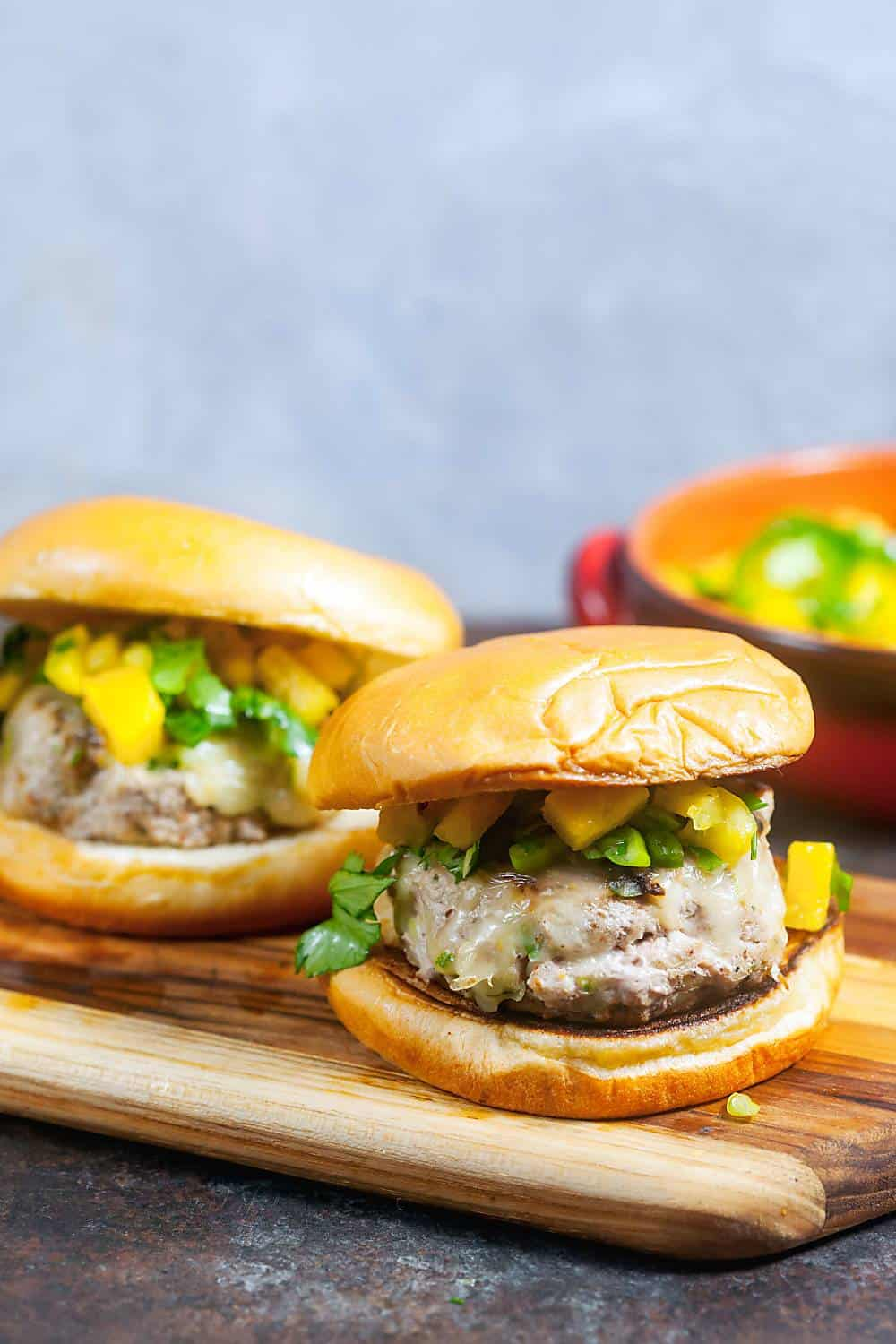 Jerk Turkey Burgers with Pineapple Salsa