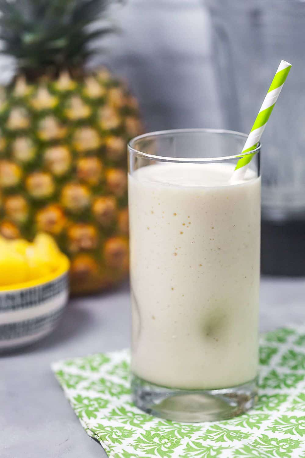 the making and use of pina Freezing fresh pineapple definitely makes the best impact flavor-wise in this piña  colada recipe, but you can use 8 oz frozen pineapple if you wish.