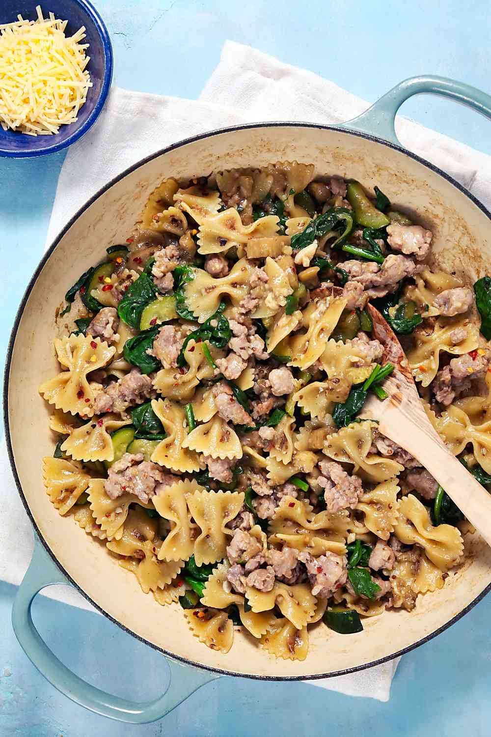 Sausage and Eggplant One Pot Pasta