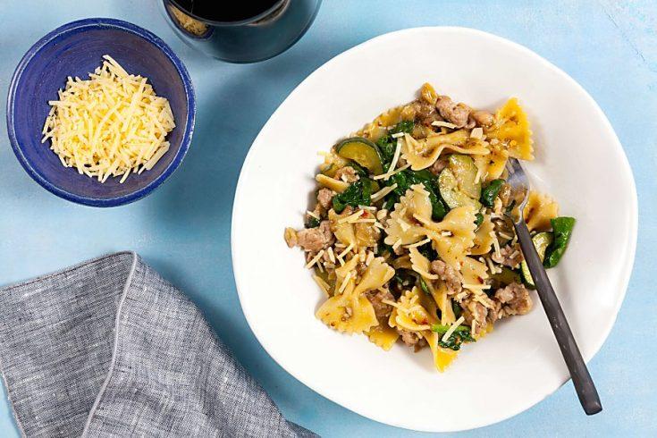 Sausage and Eggplant One Pot Pasta 4