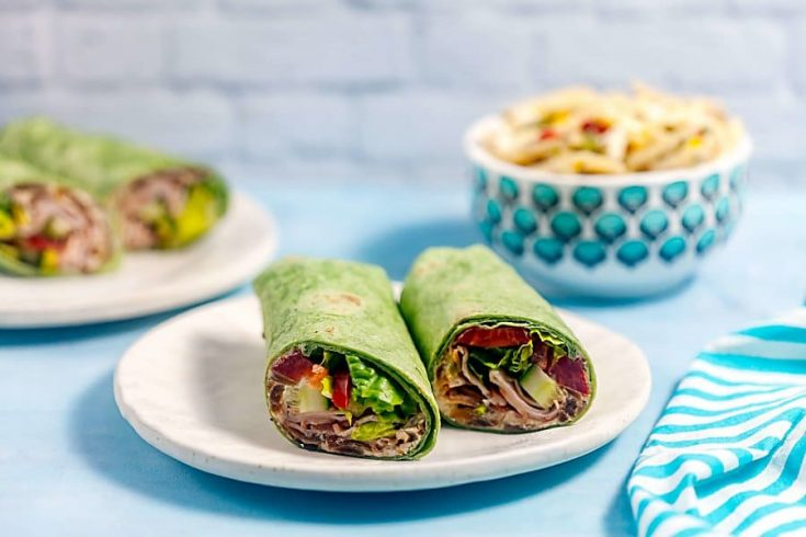 Easy Turkey Wraps with Caramelized Onion Goat Cheese Spread 1