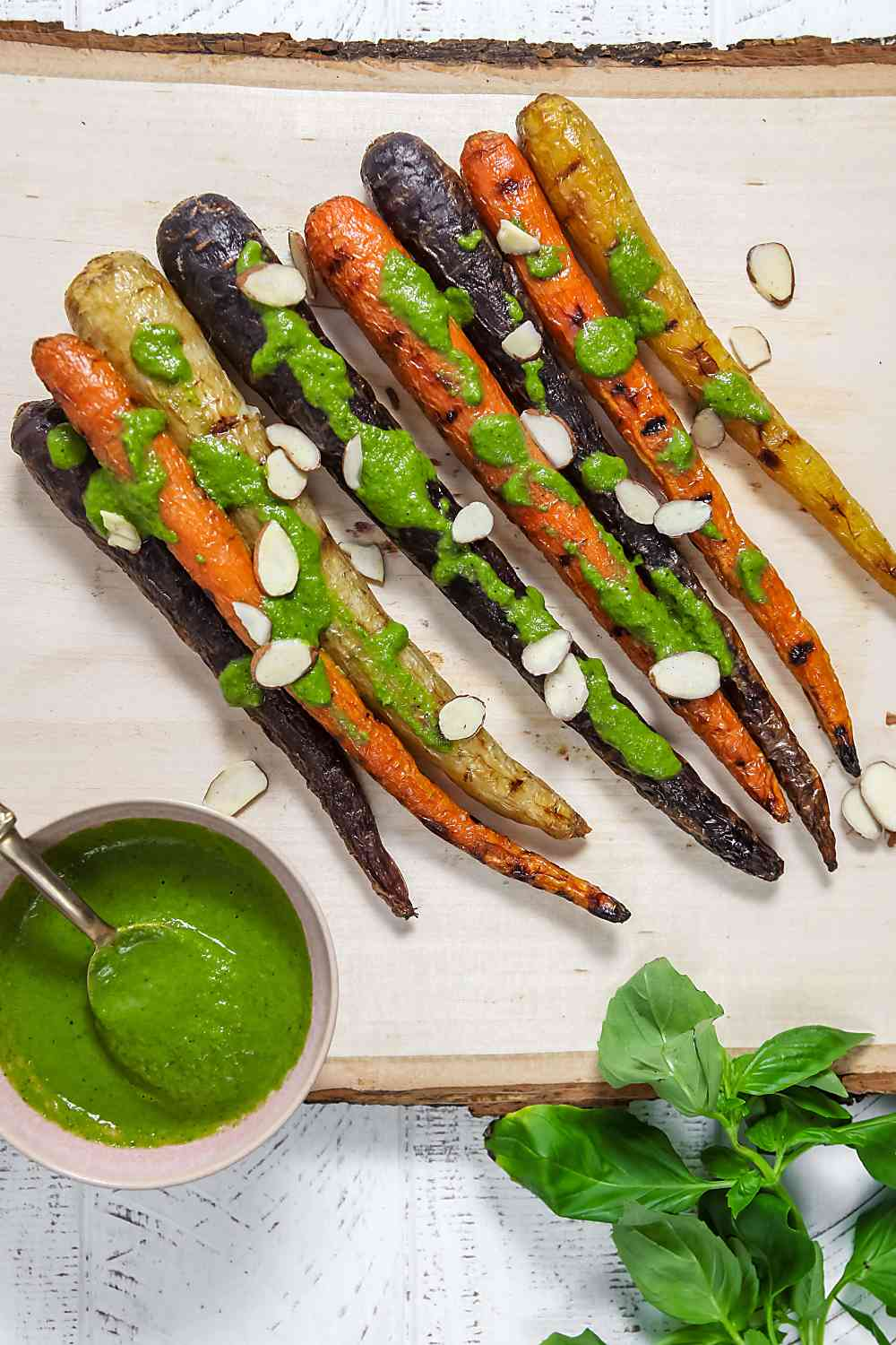 Grilled Carrots with Basil Vinaigrette