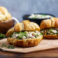 Mayo-Free Chicken Salad Sandwiches with Lemon and Herbs
