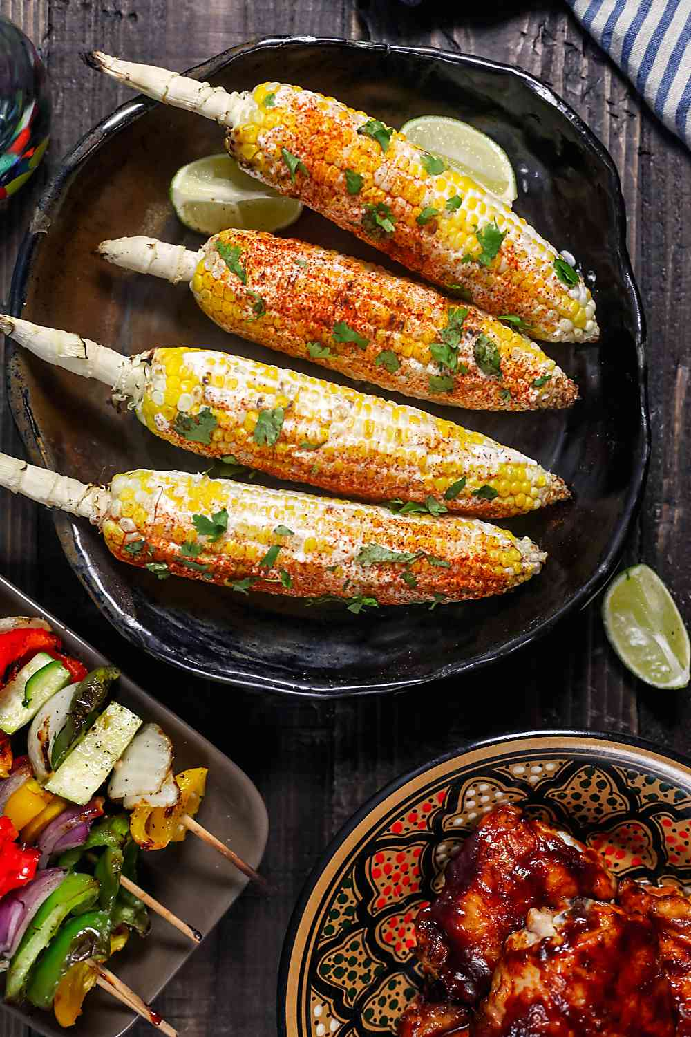 Grilled Corn on the Cob with Goat Cheese and Smoked Paprika