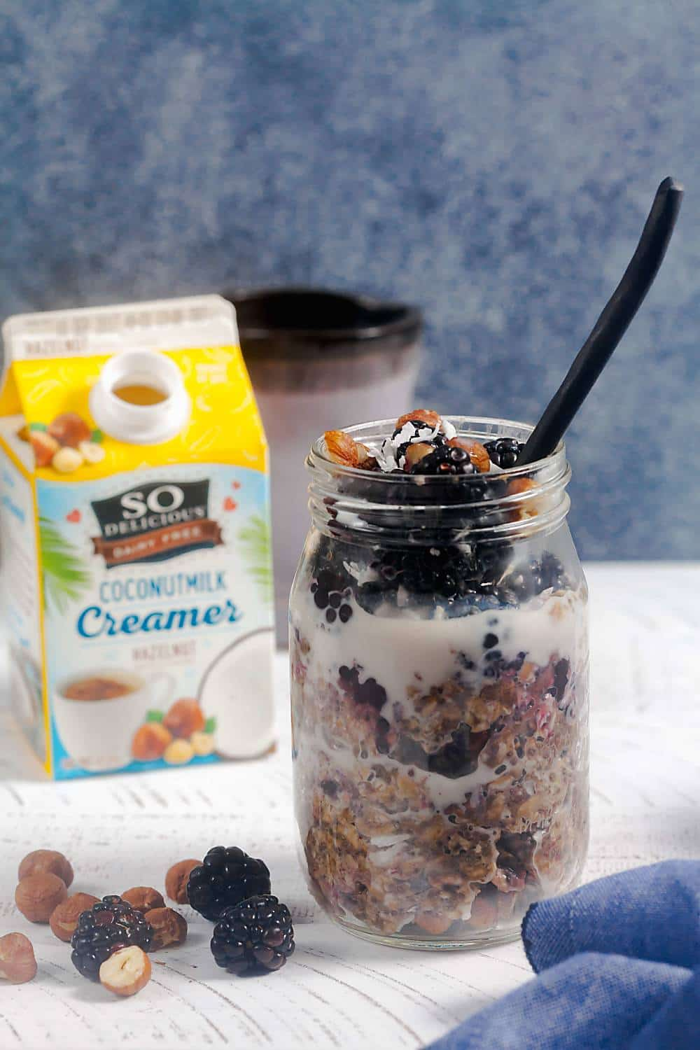 Blackberry Hazelnut Overnight Oats