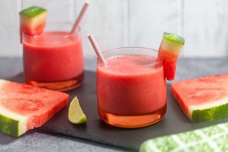Easy Watermelon Smoothie (Dairy Free) 1