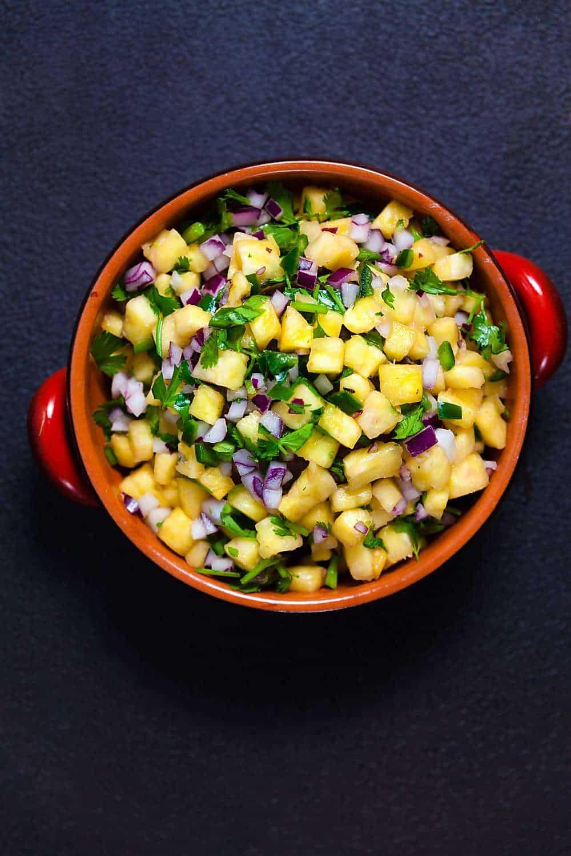 Shrimp Taco Bowls with Pineapple Salsa