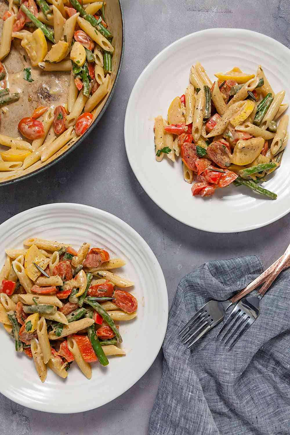 Creamy Summer Vegetable Pasta Primavera