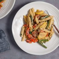 Creamy Summer Vegetable Pasta Primavera (Dairy Free)