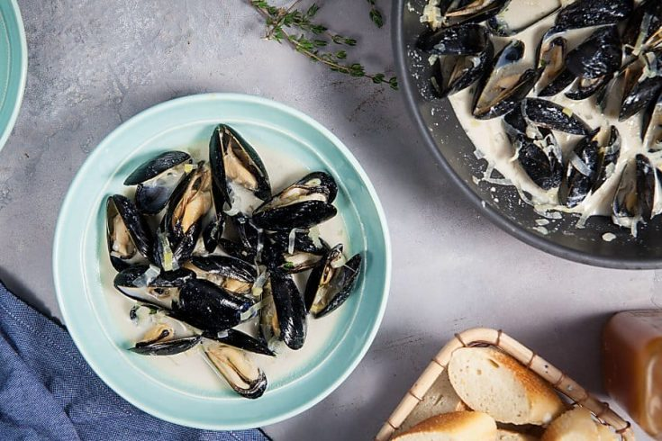 Creamy Apple Cider Mussels 1