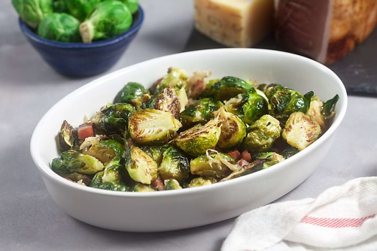 Asiago Roasted Brussels Sprouts with Crispy Speck Alto Adige 1