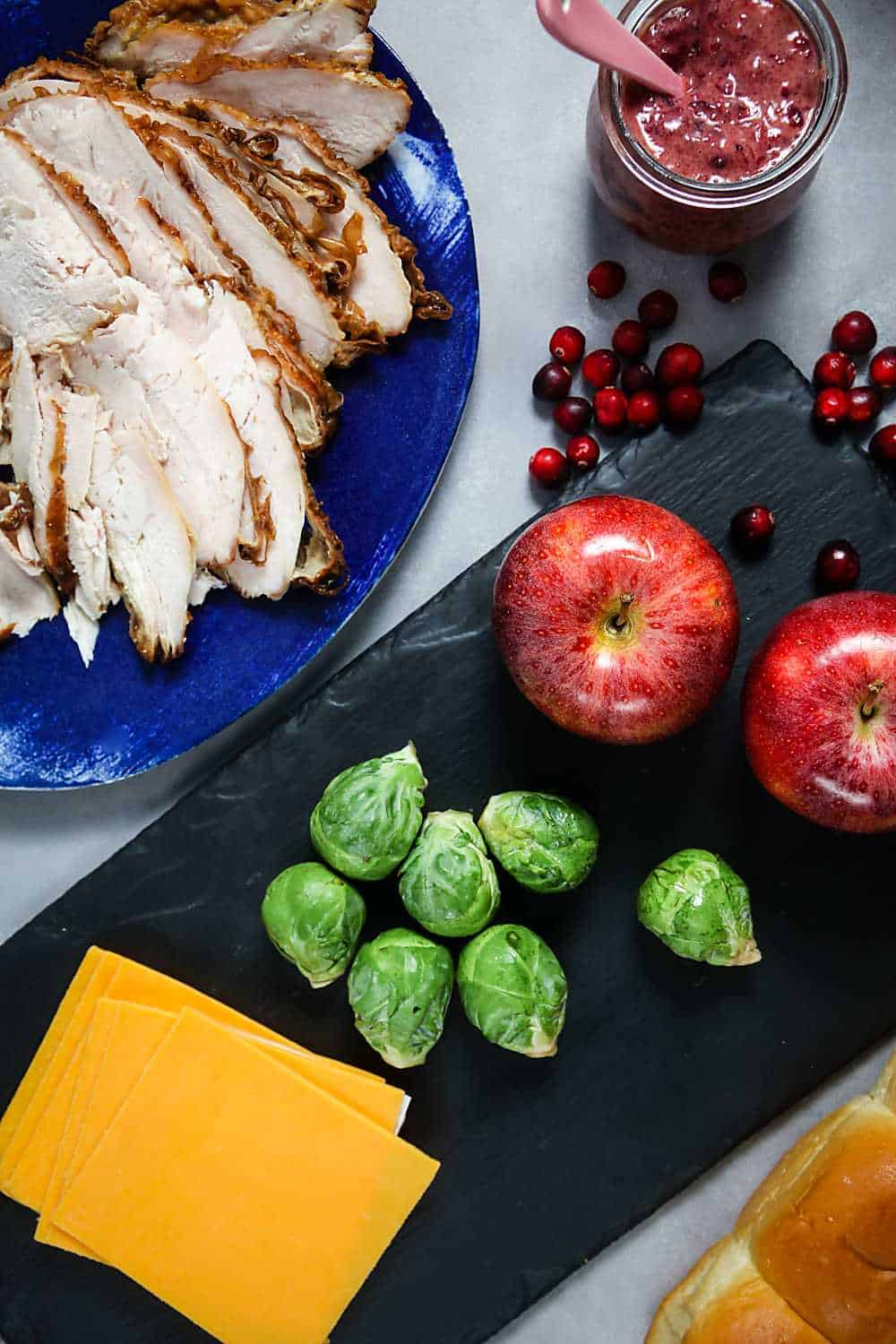 Baked Turkey Sliders with Cranberry Mustard