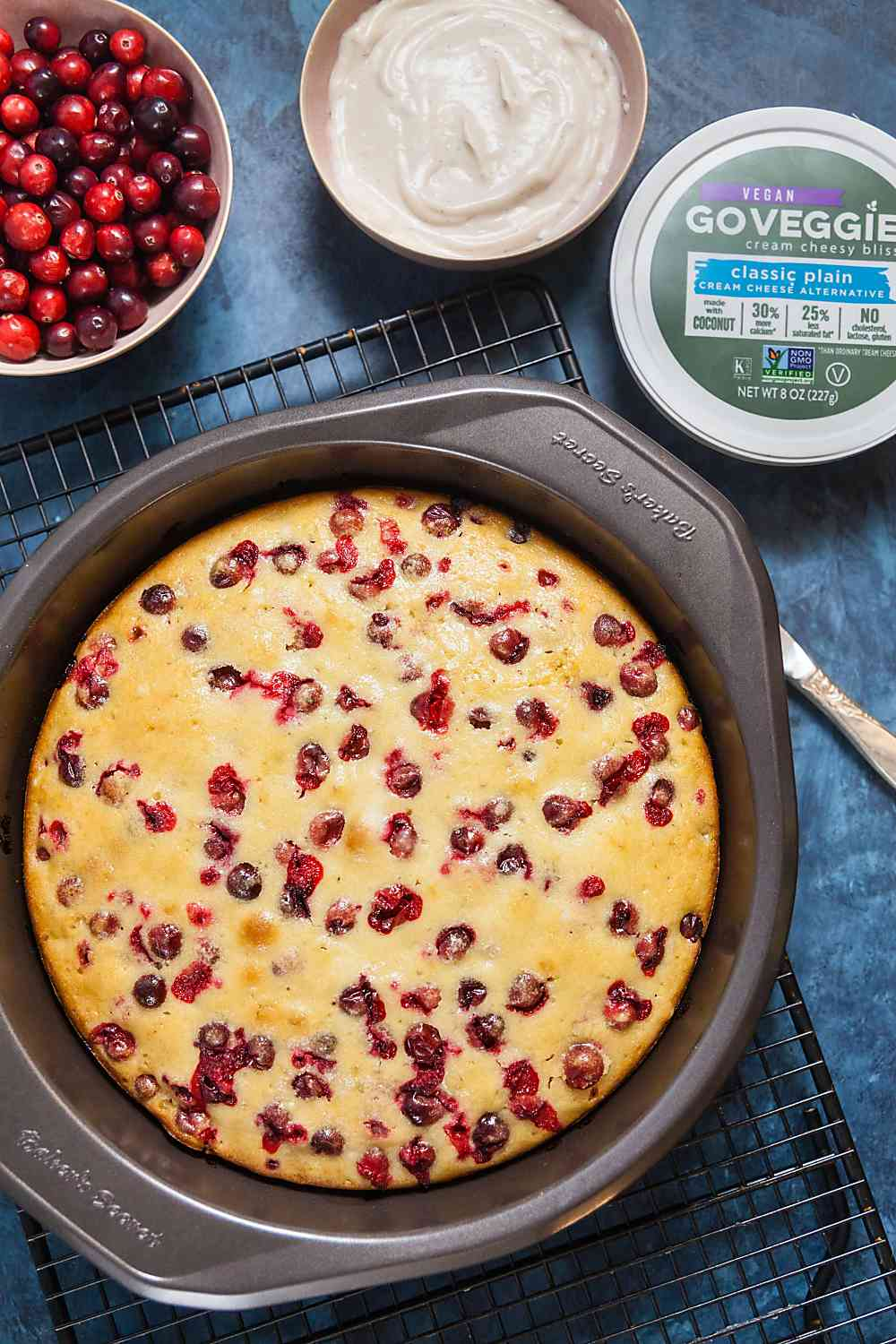 Cranberry Cake with Cream Cheese Glaze