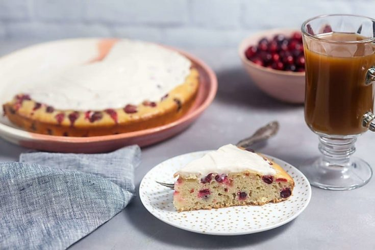 Cranberry Cake with Cream Cheese Glaze 1