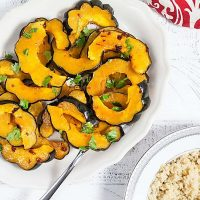 Honey Chipotle Roast Acorn Squash