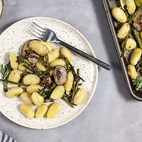 Lemon-Parmesan Gnocchi with Mushrooms (Sheet Pan Dinner)