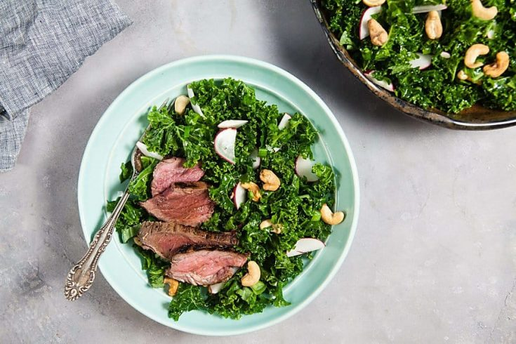Thai Steak Salad with Kale and Cashews 1