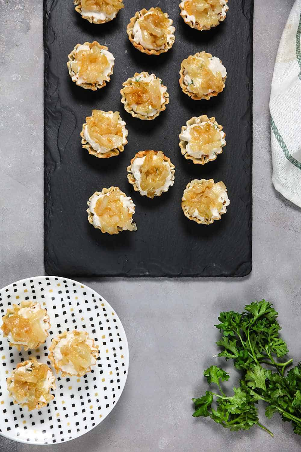 Mini Balsamic Onion Tarts (Dairy Free)