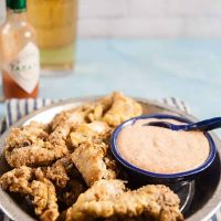 Air Fried Catfish Nuggets with Greek Yogurt Remoulade