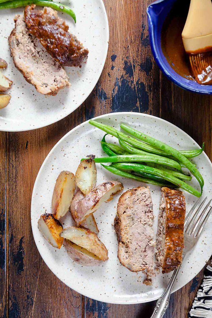 Paleo Barbecue Meatloaf with Roast Potatoes (Paleo, Whole 30, Dairy Free) 1
