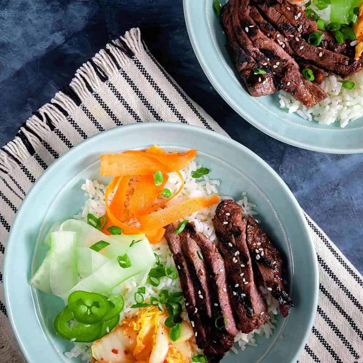 Korean Barbecue Steak Bowls