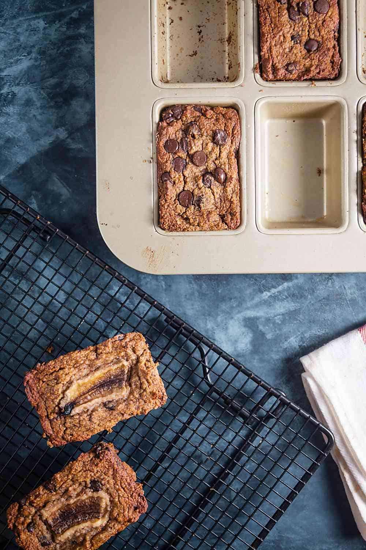 Paleo Chocolate Chunk Banana Bread (Gluten Free)