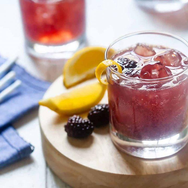 3 Ingredient Blackberry Gin Cocktails