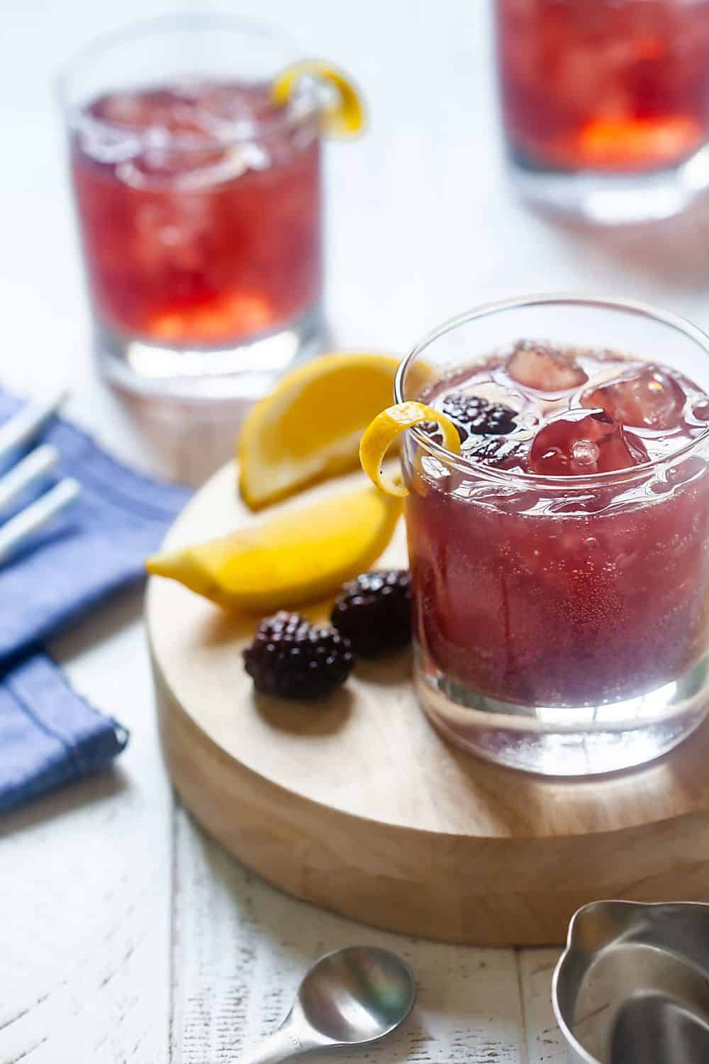 3 Ingredient Blackberry Gin Cocktails 2
