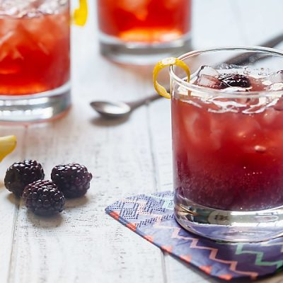 3 Ingredient Blackberry Gin Cocktails