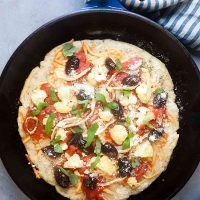 """Cheese on Bottom"" Pizza with Fennel, Cauliflower, and Olives (Gluten and Lactose Free) 1"