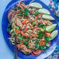 Spiralized Chicken Pad Thai
