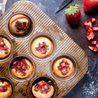 Gluten Free Strawberry Rhubarb Financiers